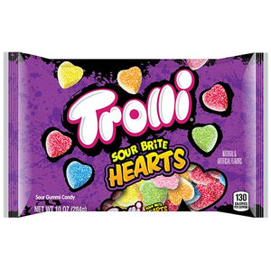 All City Candy Trolli Sour Brite Hearts Gummi Candy - 10-oz. Bag Gummi Trolli (Ferrara) For fresh candy and great service, visit www.allcitycandy.com