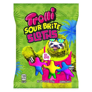 All City Candy Trolli Sour Brite Sloths Gummi Candy - 4.25-oz. Bag Gummi Trolli (Ferrara) For fresh candy and great service, visit www.allcitycandy.com