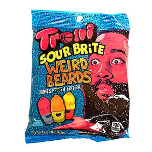 All City Candy Trolli Sour Brite Weird Beards Gummi Candy James Harden Edition - 4.25-oz. Bag Gummi Trolli (Ferrara) 1 Bag For fresh candy and great service, visit www.allcitycandy.com
