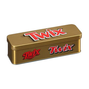 All City Candy Twix Cookie Bar Minis Heritage Tin 3.53 oz. Novelty Mars Chocolate For fresh candy and great service, visit www.allcitycandy.com