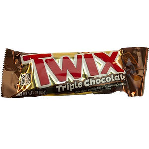 All City Candy Twix Triple Chocolate Candy Bar 1.41 oz. Candy Bars Mars Chocolate For fresh candy and great service, visit www.allcitycandy.com
