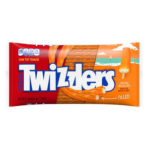 All City Candy Twizzlers Orange Cream Pop Filled Licorice Twists - 11-oz. Bag Licorice Hershey's For fresh candy and great service, visit www.allcitycandy.com