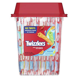 All City Candy Twizzlers Rainbow Licorice Twists Straws - Tub of 105 Licorice Hershey's For fresh candy and great service, visit www.allcitycandy.com