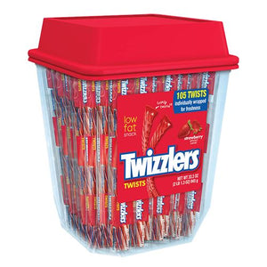 All City Candy Twizzlers Strawberry Licorice Twists - Tub of 105 Licorice Hershey's For fresh candy and great service, visit www.allcitycandy.com