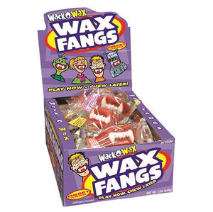 All City Candy Wack-O-Wax Wax Fangs Wax Concord Confections (Tootsie) Case of 24 For fresh candy and great service, visit www.allcitycandy.com