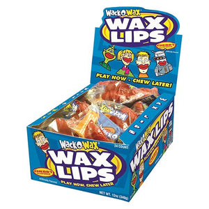 All City Candy Wack-O-Wax Wax Lips Wax Concord Confections (Tootsie) Case of 24 For fresh candy and great service, visit www.allcitycandy.com