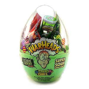 All City Candy WarHeads Assorted Sour Candy Filled Easter Egg 4.23 oz. Easter Impact Confections For fresh candy and great service, visit www.allcitycandy.com