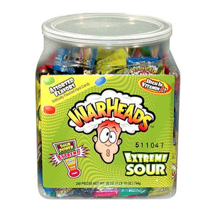 All City Candy WarHeads Extreme Sour Hard Candy - 2 LB Bulk Tub Sour Impact Confections Default Title For fresh candy and great service, visit www.allcitycandy.com