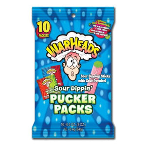 All City Candy WarHeads Sour Dippin' Pucker Packs .3 oz. - Bag of 10 Powdered Candy Impact Confections Default Title For fresh candy and great service, visit www.allcitycandy.com