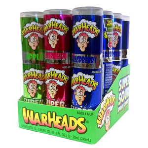 All City Candy WarHeads Super Sour Spray Candy - .68-oz. Bottle Liquid & Spray Candy Impact Confections Case of 12 For fresh candy and great service, visit www.allcitycandy.com