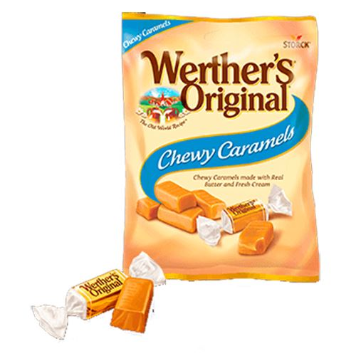 Werther's Original Sugar Free Chewy Caramels 1.46 oz bag For fresh candy and great service, visit us at www.allcitycandy.com