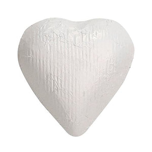 All City Candy White Foiled Solid Milk Chocolate Hearts - 2 LB Bulk Bag Bulk Wrapped SweetWorks Default Title For fresh candy and great service, visit www.allcitycandy.com