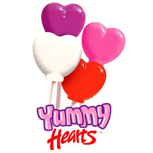All City Candy Yummy Hearts Gourmet Lollipops 1 oz. - Case of 24 Lollipops & Suckers Cima Confections For fresh candy and great service, visit www.allcitycandy.com
