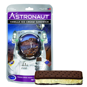 Astronaut Freeze-Dried Vanilla Ice Cream Sandwich - 1-oz. Package