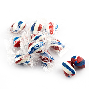 Atkinson's Red, White & Blue Mint Twists Hard Candy - 3 LB Bulk Bag