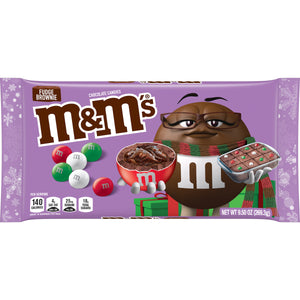 M&M's Christmas Fudge Brownie 9.5-oz Bag