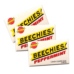 Beechies Peppermint Gum 2-Piece Pack - Box of 100