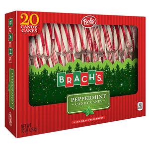 Brach's Bob's Red & White Peppermint Candy Canes - Box of 20