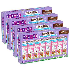 Brach's Chocolate Covered Marshmallow Rabbit .39 oz. - Package of 8