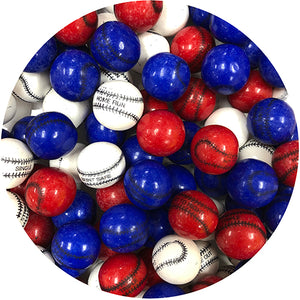 Bubble King Play Ball Baseball Gumballs - 3 LB Bulk Bag
