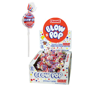 Charms Cherry Blow Pop Lollipops