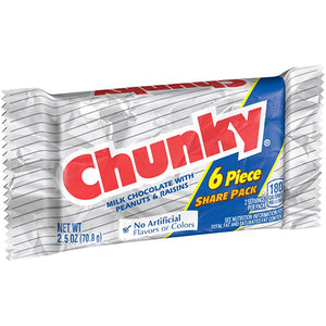 Chunky Candy Bar 6-Piece Share Pack 2.5 oz.
