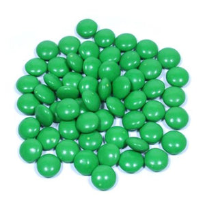 Dark Green Milk Chocolate Gems - 3 LB Bulk Bag