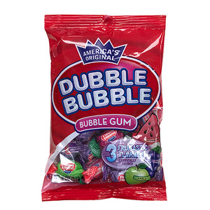 Dubble Bubble Fruit Flavors Twist Bubble Gum - 4-oz. Bag