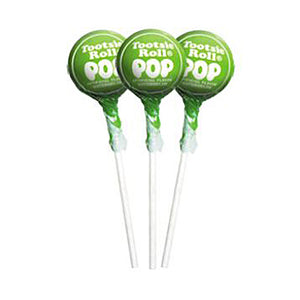 Green Apple Tootsie Pops - 2 LB Bulk Bag