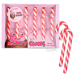 Archie McPhee Hamdy Canes Ham Flavored Candy Canes - Box of 6