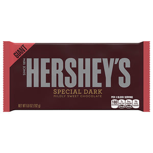 Hershey's Special Dark Chocolate Giant Candy Bar 6.8 oz.