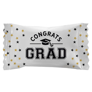 """Congrats Grad"" Wrapped White Buttermints - Bag of 110"