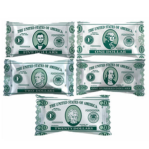 """Money Themed"" Wrapped Buttermints - Bag of 110"