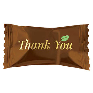"""Thank You"" Dark Chocolate Covered Buttermints - Bag of 110"