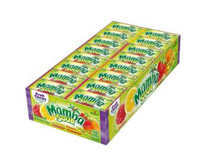 Mamba Sour Fruit Chews 0.93 oz. Pack -  Case of 48