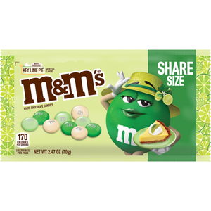 M&M's White Chocolate Key Lime Pie Candies - 2.47-oz. Bag