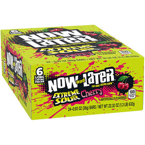 Now and Later Extreme Sour Cherry Fruit Chews 6-Pack