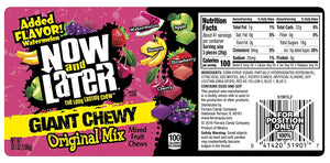 Now and Later Giant Chewy Original Mix Candy - 38.1-oz. Tub