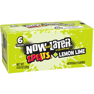 Now and Later Splits Lemon-Lime Candy 6-Pack