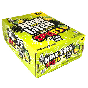Now and Later Splits Lemon-Lime Candy 6-Pack - Case of 24