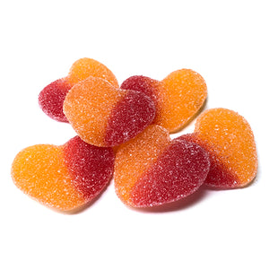 Peach Hearts Gummi Candy - 4.4 LB Bulk Bag