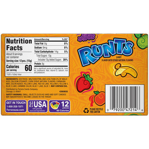 Runts Candy - 5-oz. Theater Box