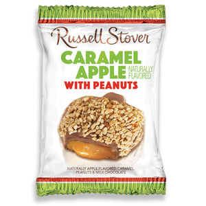 Russell Stover Caramel Apple Candy Bar with Peanuts 1.3 oz.