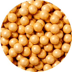 Shimmer Gold Sixlets Chocolate Candies - 2 LB Bulk Bag