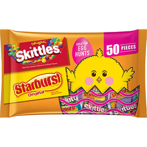 Skittles & Starburst Easter Variety Mix - Bag of 50
