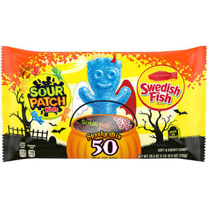 Sour Patch Kids & Swedish Fish Spooky Mix Treat Size Bags