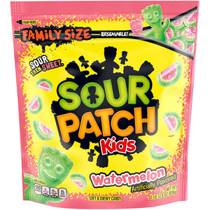 Sour Patch Kids Watermelon Soft & Chewy Candy Family Size - 1.8 LB Resealable Bag