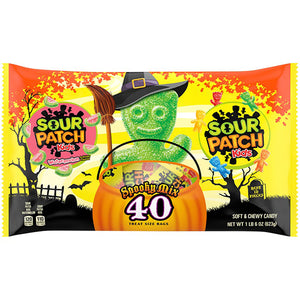 Sour Patch Spooky Mix Treat Size Bags - Bag of 40