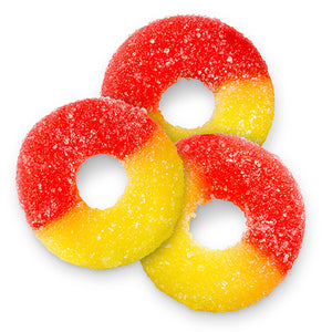 Strawberry Banana Gummi Rings - 4.5 LB Bulk Bag