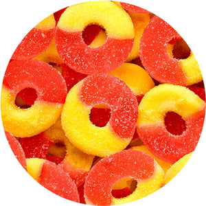 Strawberry Banana Gummi Rings - Bulk Bags